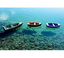Three boats in Lanzarote Photographic Print
