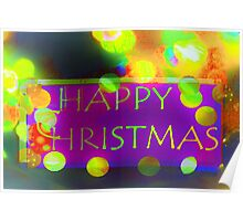 Bauble bright Christmas Poster