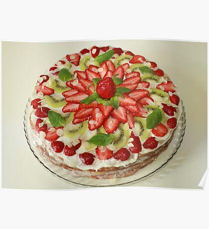 cake strawberry Poster