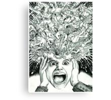 Exploding Head Canvas Print