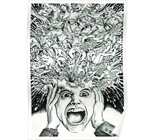 Exploding Head Poster
