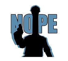 "BLU ""NOPE"" Engineer - Team Fortress 2 by TinglePringle"