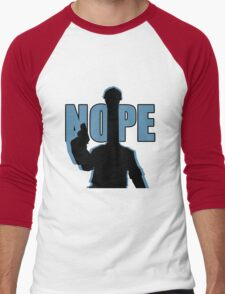 "BLU ""NOPE"" Engineer - Team Fortress 2 Men's Baseball ¾ T-Shirt"