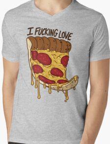 I Love Pizza Mens V-Neck T-Shirt