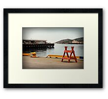 Waiting for the Ship Framed Print