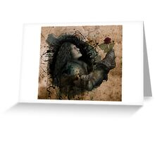 Knight of the Rose Grunge Greeting Card