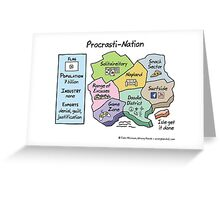 Procrasti-Nation Greeting Card