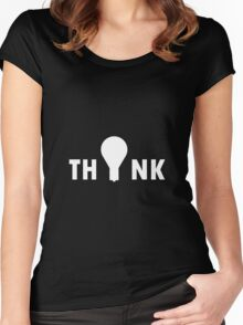 Think lightbulb Women's Fitted Scoop T-Shirt