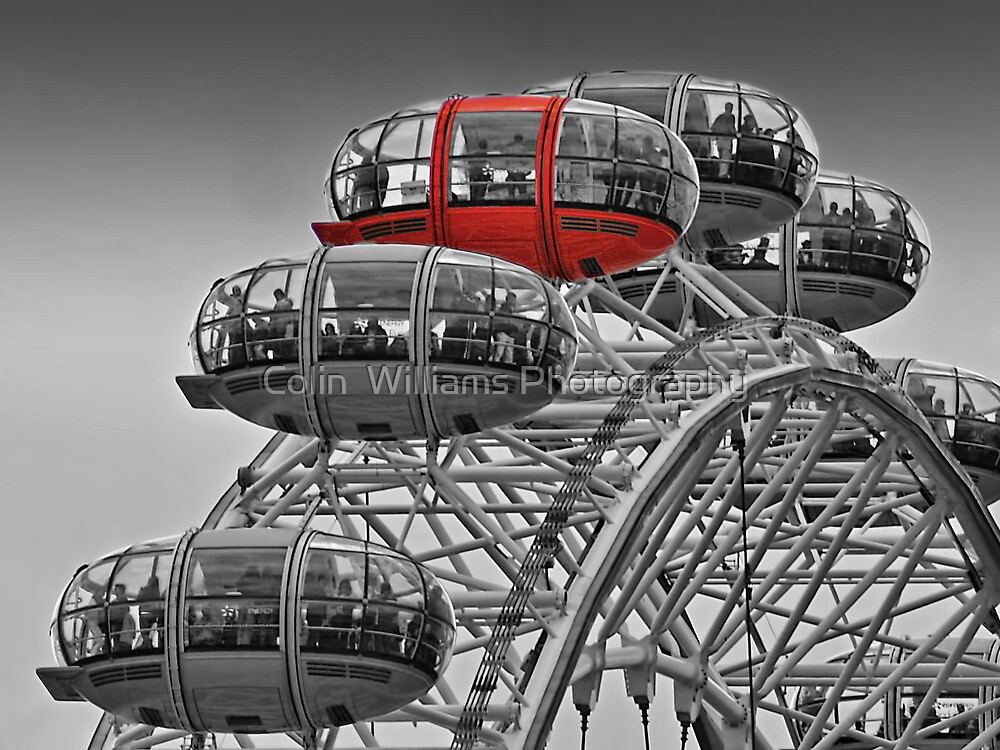The Red Pod - The London Eye by Colin  Williams Photography
