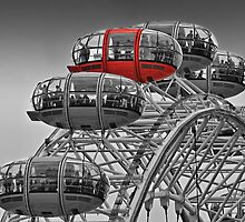 The Red Pod - The London Eye by Colin J Williams Photography