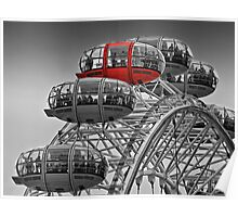 The Red Pod - The London Eye Poster