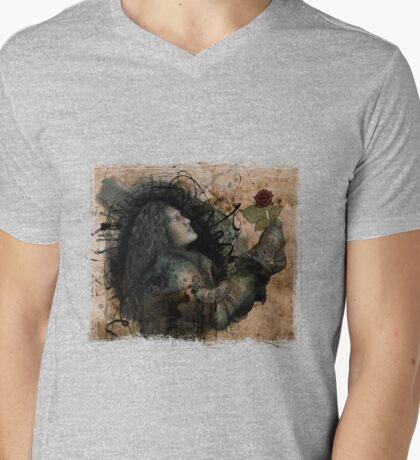 Knight of the Rose Grunge Mens V-Neck T-Shirt