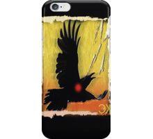 crow in flight iPhone Case/Skin