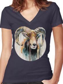 Ram Women's Fitted V-Neck T-Shirt