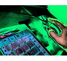 Keyboard and mouse Photographic Print