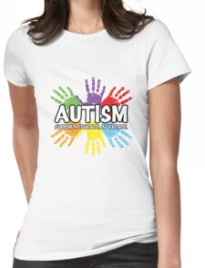 Autism: support, educate, advocate. Womens Fitted T-Shirt