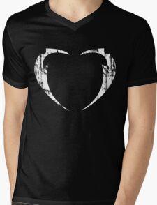 Lil' Miss Rarity Heart Brand (White) Mens V-Neck T-Shirt