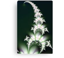 White Flower Sprig Canvas Print