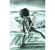Phil Lynott in Howth in Ireland Photographic Print