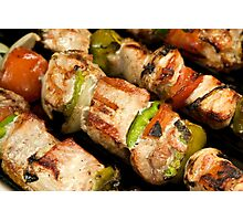 Pork and Vegetable Souvlaki Photographic Print