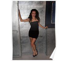 Black Dress Woman Poster