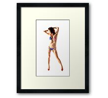USA Girl Framed Print