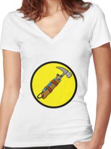 Captain Auto Hammer's Logo Women's Fitted V-Neck T-Shirt