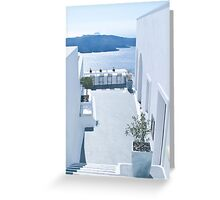 Santorini Outdoor Bar Greeting Card