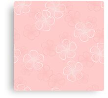 Pink Floral Seamless Pattern Canvas Print