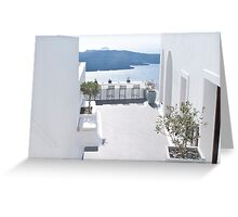 Santorini Bar Greeting Card