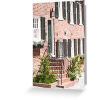 Georgetown, Washington DC Townhouse Greeting Card