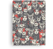 sweater mice coral red Canvas Print