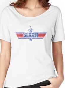 Custom Top Gun Style - Slider Women's Relaxed Fit T-Shirt
