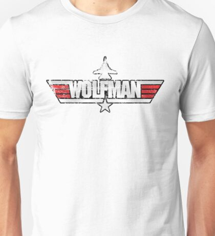 Custom Top Gun Style - Wolfman Unisex T-Shirt