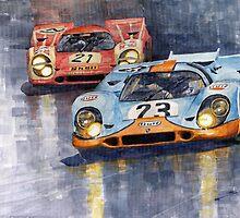Porsche 917K 1000km Zeltweg Austria 1970  by Yuriy Shevchuk