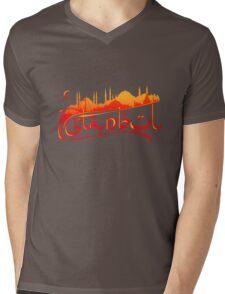 Istanbul Skyline Mens V-Neck T-Shirt