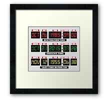 Back To The Future Panel Date Framed Print