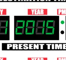 Back To The Future Panel Date Sticker