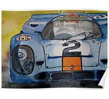 Gulf Porsche 917 No 2 Poster