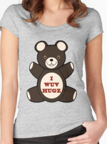 Apparently you wuv hugs Women's Fitted Scoop T-Shirt