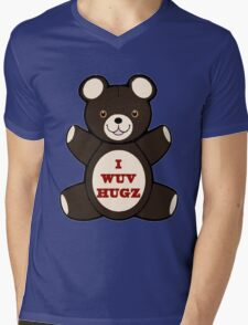 Apparently you wuv hugs Mens V-Neck T-Shirt