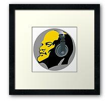 Lenin with Headphones Framed Print