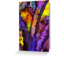 The Purple Tree Greeting Card