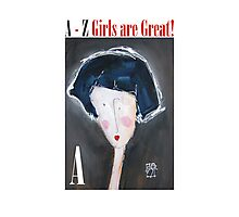 A - Alphabet Gal Photographic Print