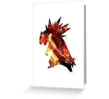 Typholsion used inferno Greeting Card