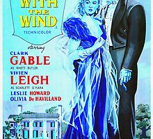 English poster of Gone with the Wind by Art Cinema Gallery