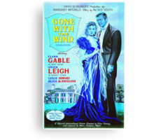 English poster of Gone with the Wind Canvas Print