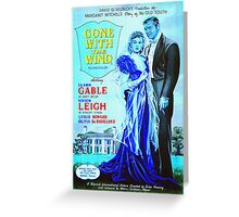 English poster of Gone with the Wind Greeting Card