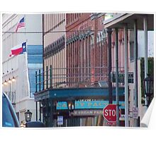 The Historic Strand Street, Galveston island Poster