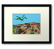 Jumping at Shadows Framed Print